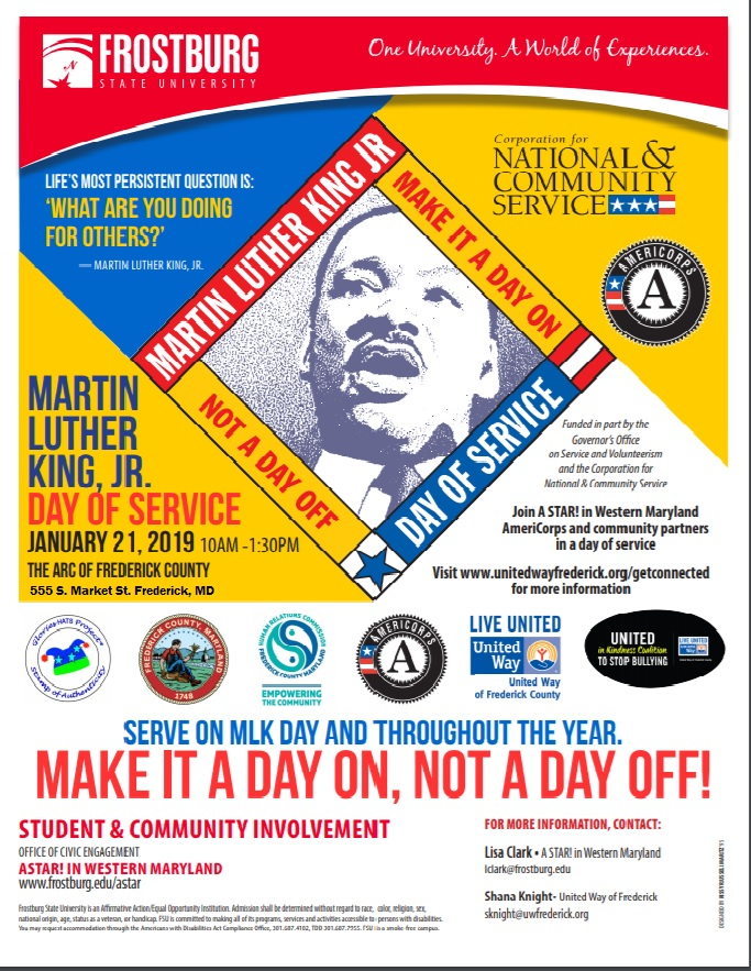 Mlk Day Of Service Monday January 21 2019 United Way Of